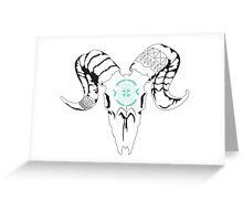 decorated ram skull Greeting Card