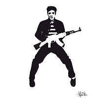 Rockin Elvis Photographic Print