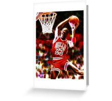 Magical Michael Jordan Greeting Card