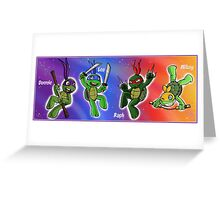 Turtles in Space Greeting Card