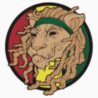 Rasta Lion Dreadlock Monsta T-Shirt by BasicLee