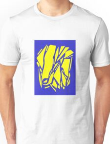 Abstract yellow blue Unisex T-Shirt