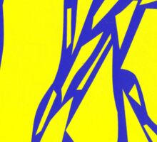 Abstract yellow blue Sticker