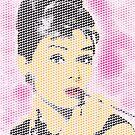 Audrey Hepburn Heart Mosaic by finalscore