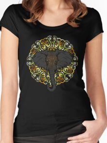 Awesome Indian Looking Elephant Women's Fitted Scoop T-Shirt