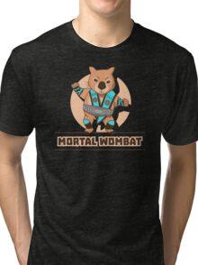 Mortal Wombat Tri-blend T-Shirt