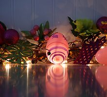 Reflections of Easter eggs on my Counter by jeanlphotos