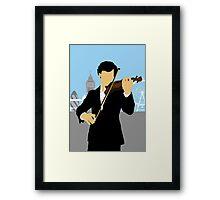 Minimalist Sherlock Violin Piece Framed Print