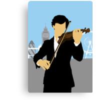 Minimalist Sherlock Violin Piece Canvas Print