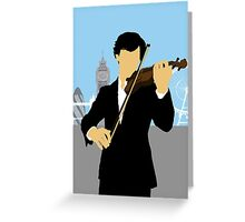 Minimalist Sherlock Violin Piece Greeting Card