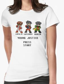 young justice go! Womens Fitted T-Shirt