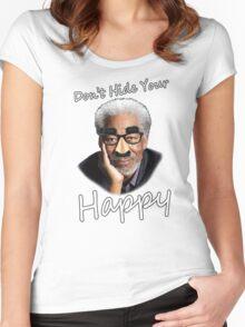Freeman Happy Women's Fitted Scoop T-Shirt