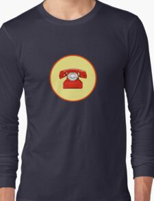 Phone Red Long Sleeve T-Shirt