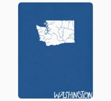 Washington Minimalist Vintage Map Kids Tee