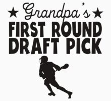 Grandpa's First Round Draft Pick Lacrosse One Piece - Short Sleeve