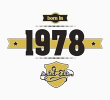 Born in 1978 (Choco&Yellow) Kids Clothes