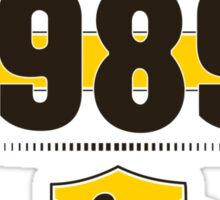 Born in 1989 (Choco&Yellow) Sticker