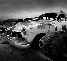 Car graveyard, Australia by lynniegraham