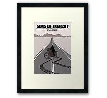 Sons of Anarchy Minimalist work Framed Print