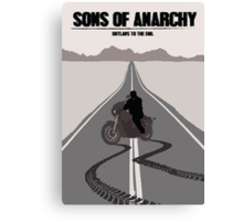 Sons of Anarchy Minimalist work Canvas Print