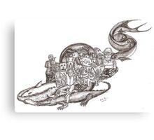 Sketch Inspired by Piranesi Canvas Print
