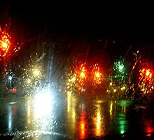 Rainy Night At the Intersection by Jane Neill-Hancock