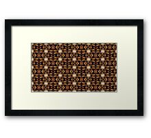 White Brown Floral - Abstract Art Design Framed Print