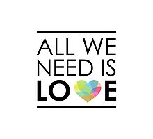 ALL WE NEED IS LOVE -2 Photographic Print