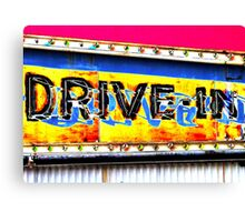 Drive-In Movie Sign Canvas Print