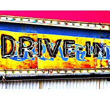 Drive-In Movie Sign Photographic Print