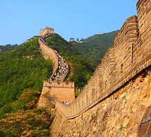 The Great Wall of China, near Beijing. by candysfamily