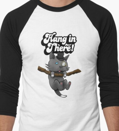 Hang in there, kitty! Men's Baseball ¾ T-Shirt