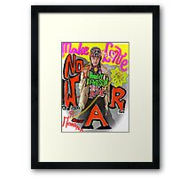 Make Love no War !!!  Tribute to Peace and Freedom. God bless Europe & Culture. Framed Print