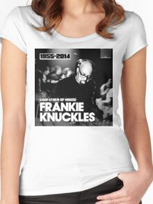 FRANKIE KNUCKLES RIP Women's Fitted Scoop T-Shirt