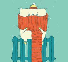 frozen cat, winter cat by zoooooya