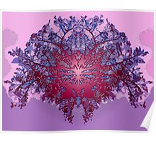 Abstract symetry plastified Poster