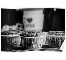 Cupcake - I Love Coffe Poster