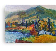 Mountain Pinting Oil Landscape Ekaterina Chernova Canvas Print
