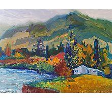Mountain Pinting Oil Landscape Ekaterina Chernova Photographic Print