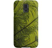 Tropical Green Curves and Diagonals - a Vertical View Samsung Galaxy Case/Skin