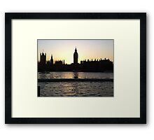 London at sunset Framed Print