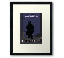 The Wire minimalist work Framed Print