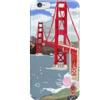 Alexander And The Golden Gate Bridge And His Long Journey iPhone Case/Skin