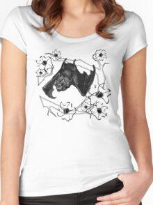 Bat in Apple Tree Ladies T-Shirt by HNTM Women's Fitted Scoop T-Shirt