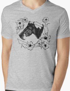Bat in Apple Tree Ladies T-Shirt by HNTM Mens V-Neck T-Shirt