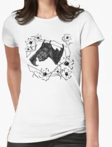 Bat in Apple Tree Ladies T-Shirt by HNTM Womens Fitted T-Shirt