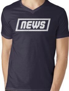 News White - Fontline Mens V-Neck T-Shirt
