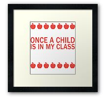 A Teacher's Confession Framed Print