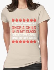 A Teacher's Confession Womens Fitted T-Shirt