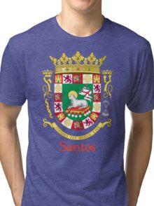 Santos Shield of Puerto Rico Tri-blend T-Shirt